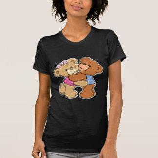 Osos lindos del abrazo de oso playera