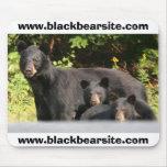 osos negros alfombrilla de ratones
