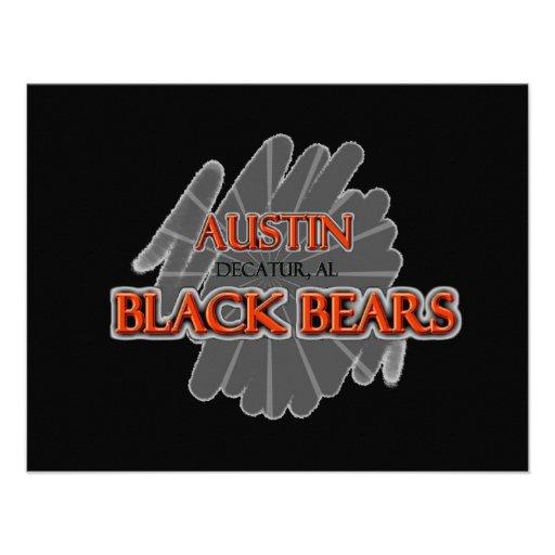 Osos negros de la High School secundaria de Austin Anuncio Personalizado