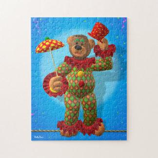 Osos pequeños que equilibran al payaso puzzles con fotos