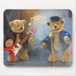 Osos pequeños Rockband Alfombrillas De Ratón
