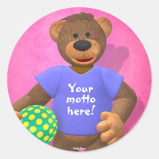 Osos pequeños: Su oso 2 del lema Pegatina Redonda