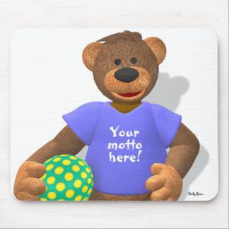 Osos pequeños: Su oso 2 del lema Alfombrillas De Ratón