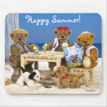 Osos pequeños: ¡Verano feliz! Tapetes De Ratón