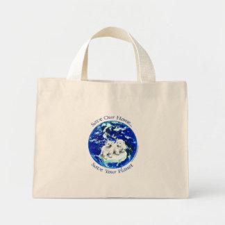 osos polares bolsa tela pequeña