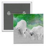Osos polares, cachorros y aurora boreal pins
