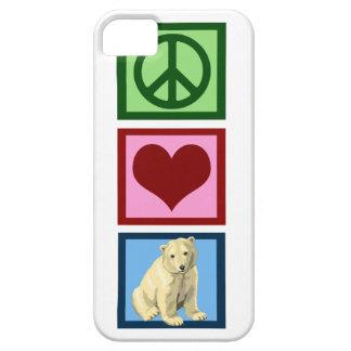 Osos polares del amor de la paz funda para iPhone SE/5/5s
