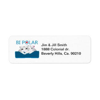 Osos polares del BI Etiqueta De Remitente