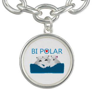 Osos polares del BI Pulseras Con Dijer