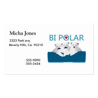 Osos polares del BI Tarjetas De Visita