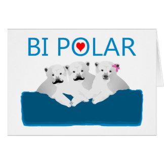 Osos polares del BI Tarjeta De Felicitación