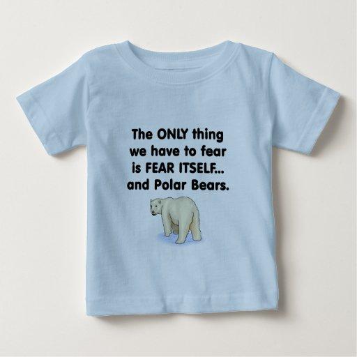 Osos polares del miedo sí mismo playera de bebé