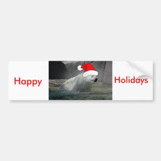 Osos polares del navidad pegatina para auto