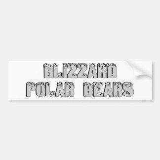 Osos polares en una ventisca etiqueta de parachoque