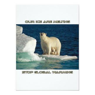 """osos polares frescos contra diseños del invitación 5.5"""" x 7.5"""""""