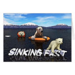 Osos polares - hundiéndose rápidamente tarjeta de felicitación