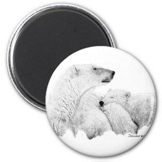 Osos polares imán redondo 5 cm