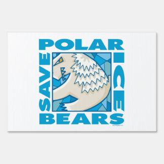 Osos polares letrero