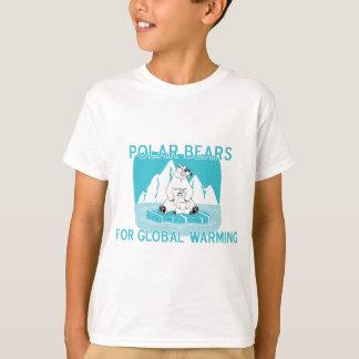 Osos polares para el calentamiento del planeta playera