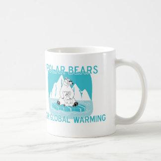 Osos polares para el calentamiento del planeta taza clásica