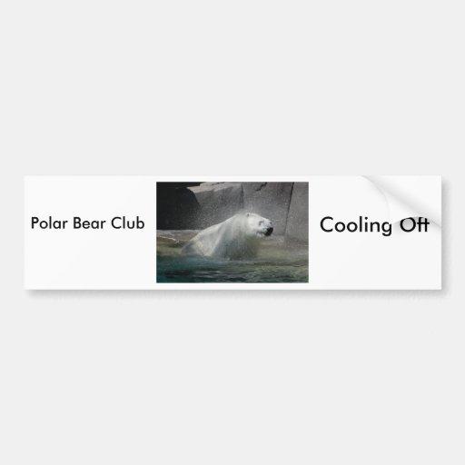 Osos polares pegatina para auto
