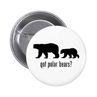 Osos polares pin redondo de 2 pulgadas