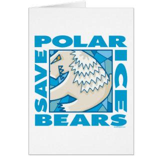 Osos polares tarjeta de felicitación