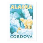 Osos polares y Cub - Cordova, Alaska Tarjetas Postales