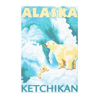 Osos polares y Cub - Ketchikan, Alaska Impresiones En Lienzo Estiradas