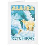 Osos polares y Cub - Ketchikan, Alaska Tarjeton