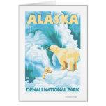 Osos polares y Cub - parque nacional de Denali, Al Tarjeta