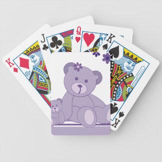 Osos púrpuras de la conciencia baraja de cartas