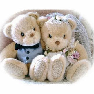 osos que van a un boda fotoescultura vertical