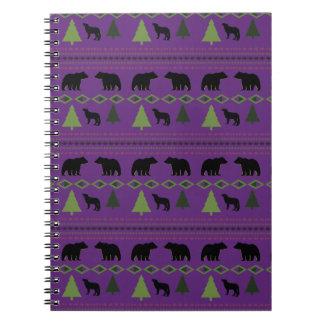 Osos y lobos libro de apuntes con espiral