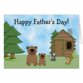 Osos y tarjeta lindos del día de padre de la
