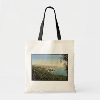 Ospedaletti, San Remo, Riviera classic Photochrom Canvas Bags