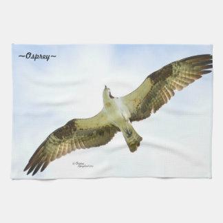 Osprey bird flying Kitchen Towel