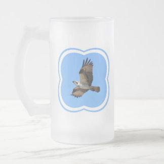 Osprey Bird Frosted Beer Mug