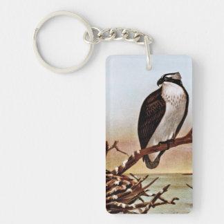 Osprey Bird Vintage Art Keychain