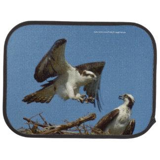 Osprey birds flying nest Car Mats Car Mat