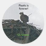 Osprey en el plástico de la jerarquía es va para pegatinas redondas