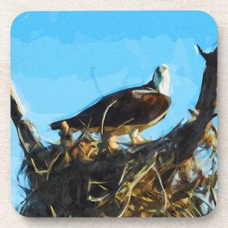 Osprey en impresionismo del extracto de la jerarqu posavaso