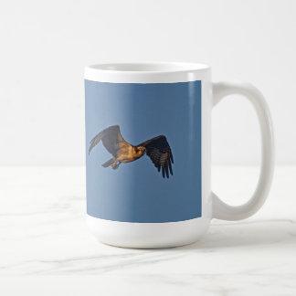 Osprey Fish Eagle Flying at Sunset Classic White Coffee Mug