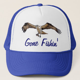 Osprey Fish Hawk Gone Fishin' Fisherman's Hat
