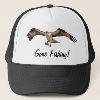 Osprey Fish Hawk Gone Fishing Fisherman's Hat