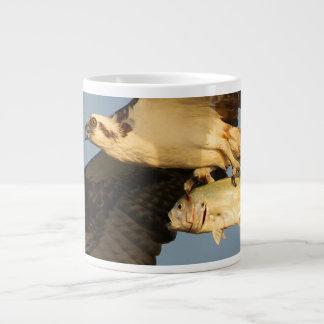 osprey fishing large coffee mug