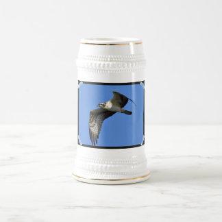 Osprey Flying Beer Stein Coffee Mug