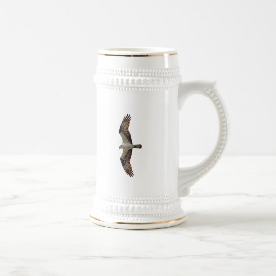 Osprey Flying Photo Beer Stein
