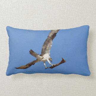 Osprey Hawk carrying stick Pillow
