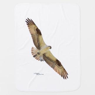 Osprey Hawk flying Baby Blanket